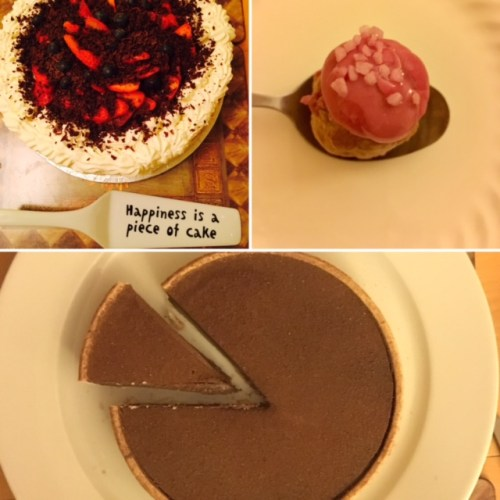 Sugar rush - the EF team sampled a trio of desserts
