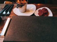 Hot stone dining - cook your own dinner