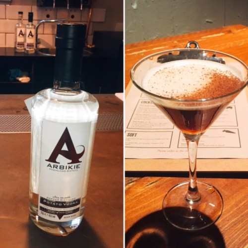 Nitro Cold Brew Martini made with Arbikie Potato Vodka