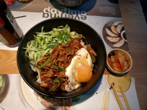 Shredded duck donburi at Wagamama