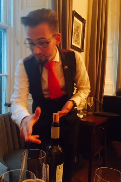 Silvère, the Dining Room's trusted sommelier
