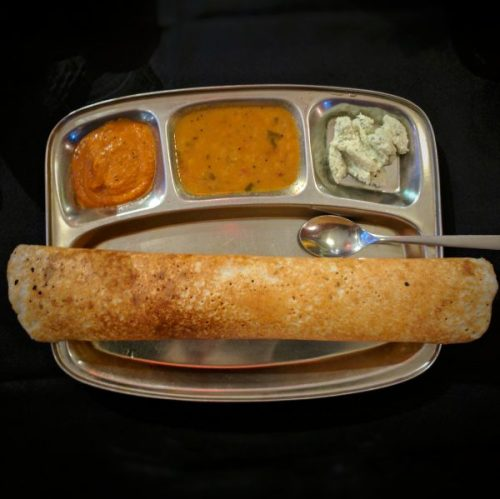 Dosa. But not the dosa they serve at Kalpna because that looks better.