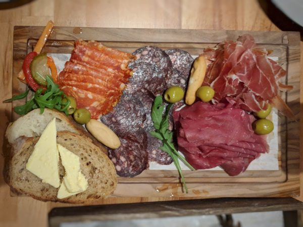The salt-cured beef was glorious in its dark red majesty and I really liked the salami too.