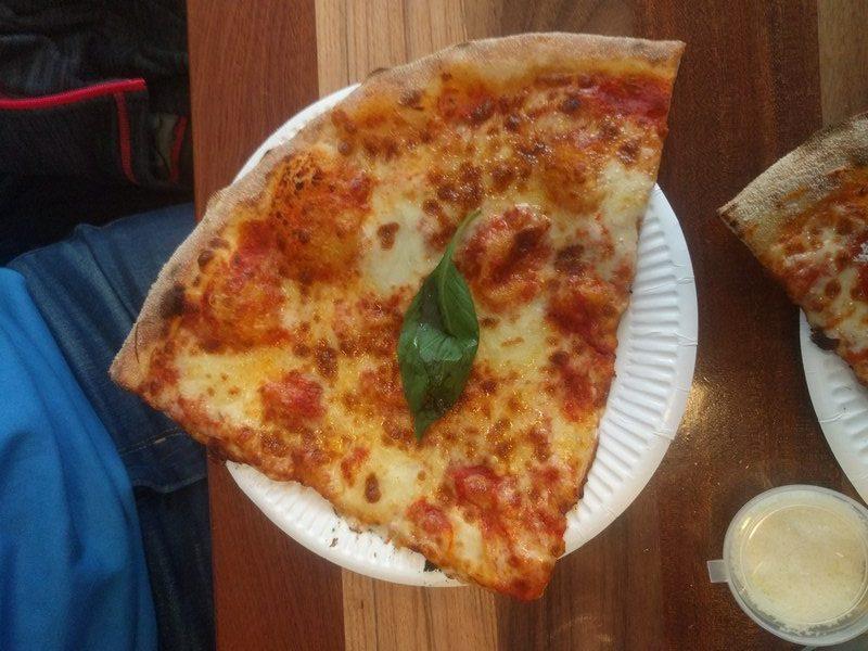 Margherita slice at Civerinos