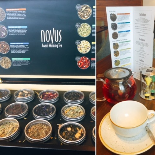 A choice of award winning teas by Novus at the Lantern Room