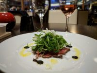 Carpaccio as it should be: light, flavoursome and moreish.