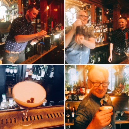 Derek mixes up a pretty fine Espresso Martini