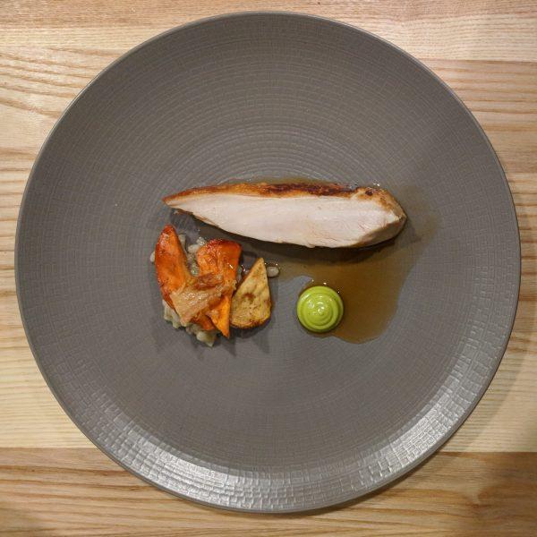 Chicken, mushroom, barley and lovage. Oh yeah.