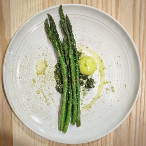 Heaven in a plate of asparagus.