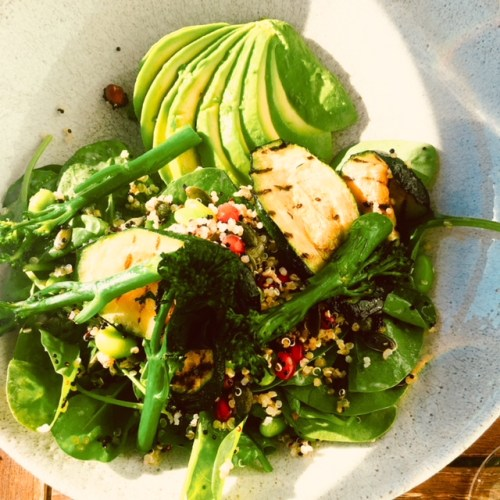 My dining companion's much healthier option - a superfood salad
