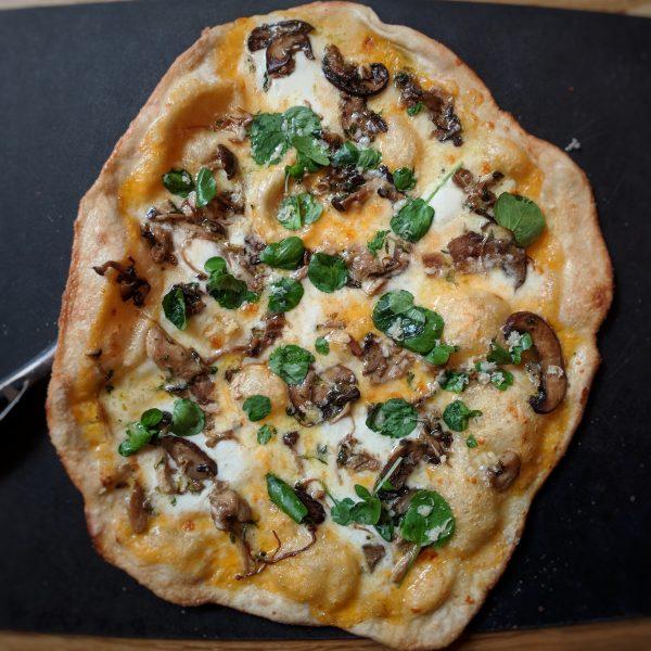 Mushroom pizza - a keeper!