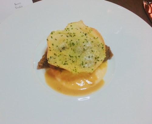 Smoked haggis, puréed neeps, crispy potato