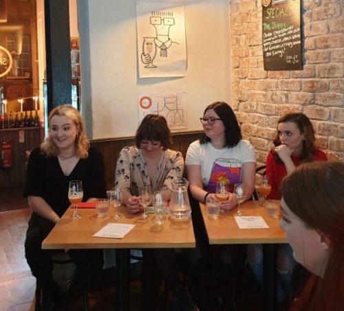 Ladies in beer at Salt Horse