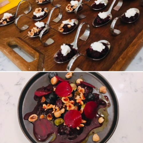 A beetroot, blueberries and curd cheese small plate had the umami factor