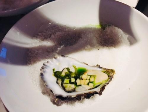 Loch Fyne Oysters with Leek Oil