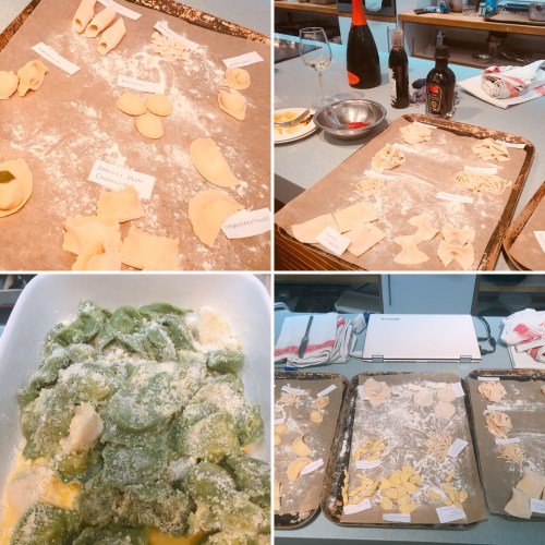 A myriad of pasta shapes made using different doughs