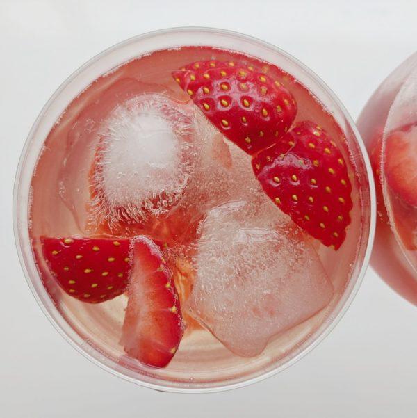 Strawberry wine cooler. Cheers!
