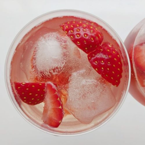 Strawberry wine cooler. Cheers!