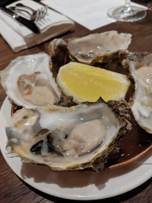 Sweet, succulent oysters brings the sea to your palate.