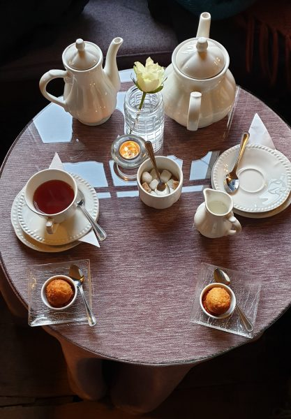Tea for two at Roman Camp Hotel