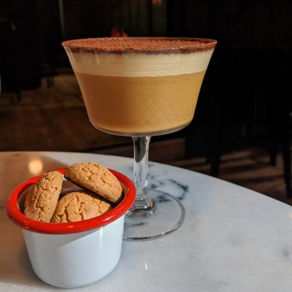 Tiramisu the cocktail: rich with chocolate.