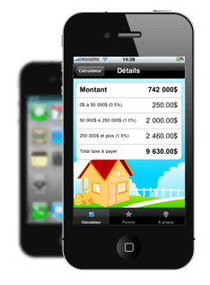 Application iPhone Taxe de Bienvenue