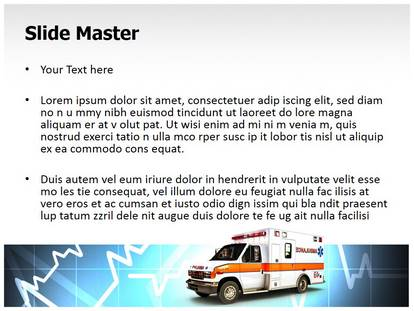 Free Ambulance Medical PowerPoint Template for Medical PowerPoint