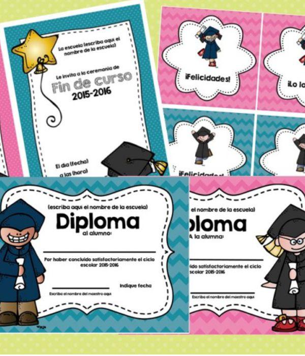 Diplomas para Niños Fin De Curso (PARA IMPRIMIR) Fáciles y Rápidos