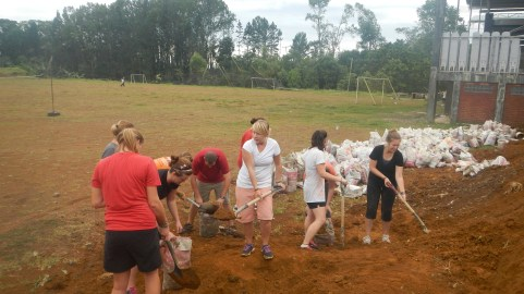 Moving dirt with Daughters of Zion