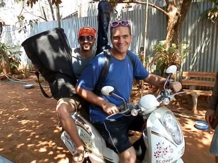 Chris and I motorbiking around