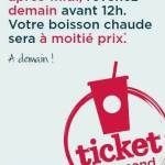 Le Ticket Gourmand de Starbucks