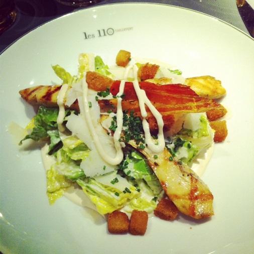 110 Taillevent restaurant un été américain menu salade césar