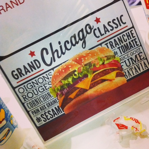Grand chicago classic menu board mcdonalds