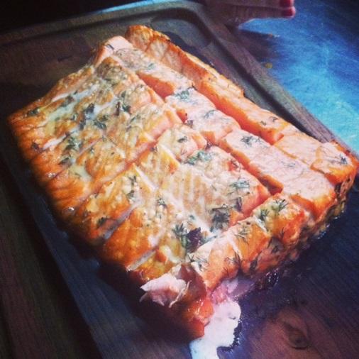 recette barbecue saumon weber