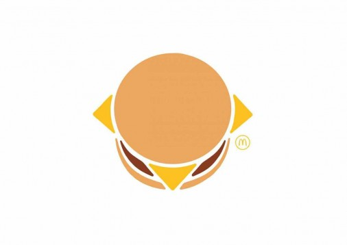 cheese burger mc donalds flat design_publicite-mcdonald-s-picto-flat-design