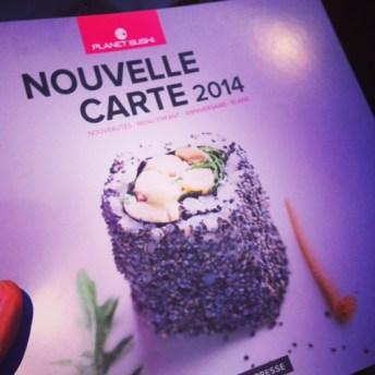 maki cesar planet sushi nouvelle carte 2014