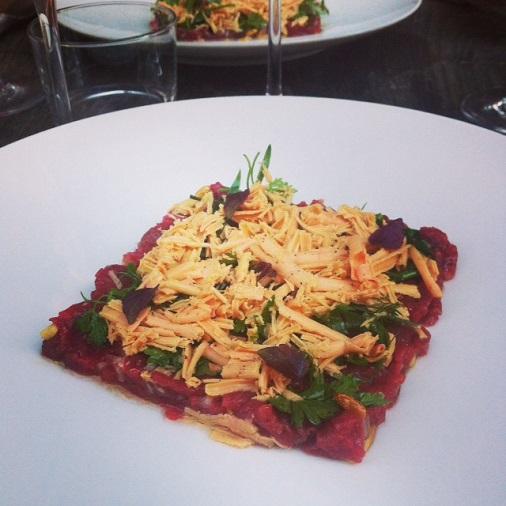 restaurant le pas sage paris bistrot entrée foie gras et tartare de boeuf
