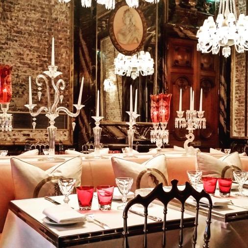 salle restaurant décoration starck cristal room baccarat guy martin