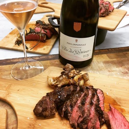 accord champagne rosé philipponnat et viande
