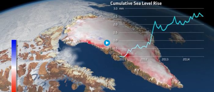 greenland lost a trillion tons of ice