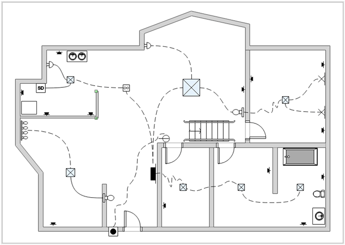 wiring diagram for household lighting