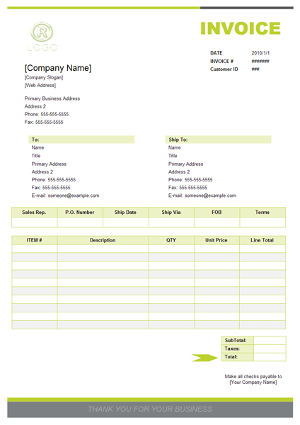 384 Free Invoice Templates For Excel Business Form Software Professional Form Design Software