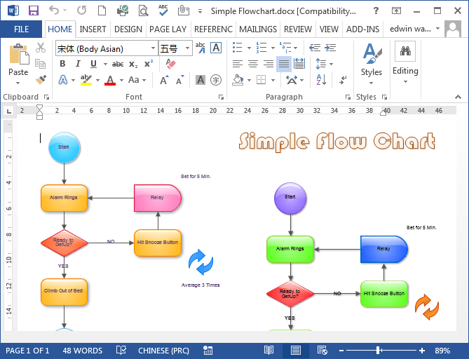 Word Flow Chart Template – Word Template Flow Chart