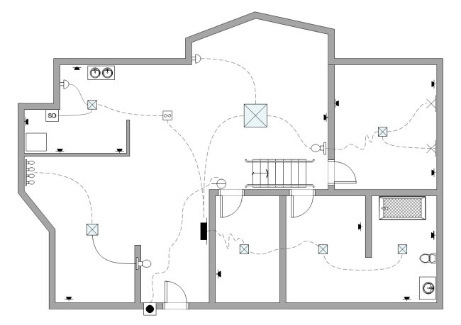 simple electrical plan for house