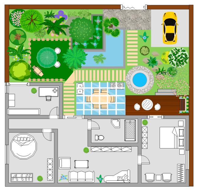 Garden Floor Plan | Free Garden Floor Plan Templates