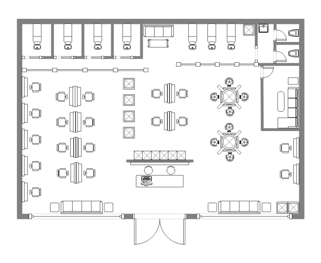 Salon Design Floor Plan | Free Salon Design Floor Plan Templates