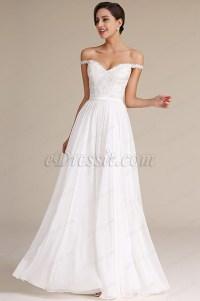 Elegant Off Shoulder Bridal Reception Dress Wedding Gown ...