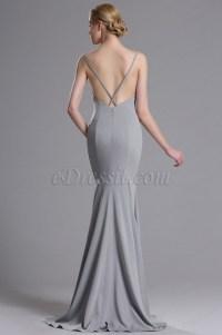 eDressit Grey Strapped Mermaid Evening Prom Dress (00163408)