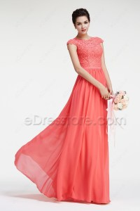 Modest Bridesmaid Dresses With Sleeves - Discount Wedding ...