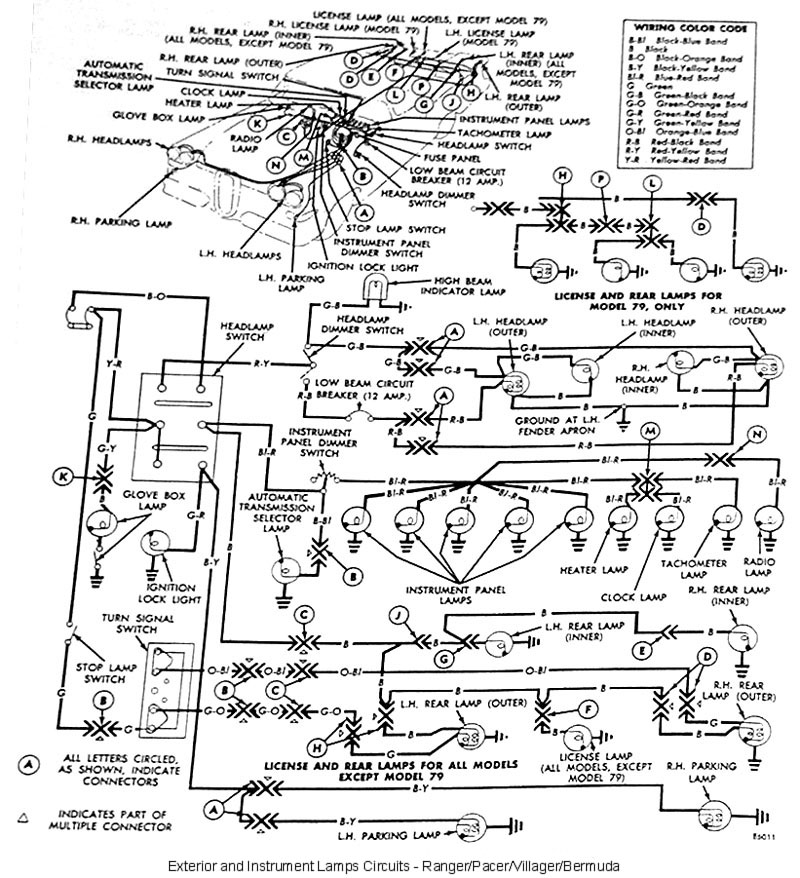 wiring diagram for 1959 edsel 6 all models
